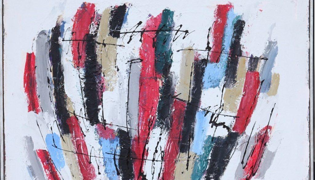 Karl Stengel Musica acrilico su cartone 90×80