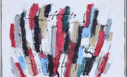 Karl Stengel Musica acrilico su cartone 90x80