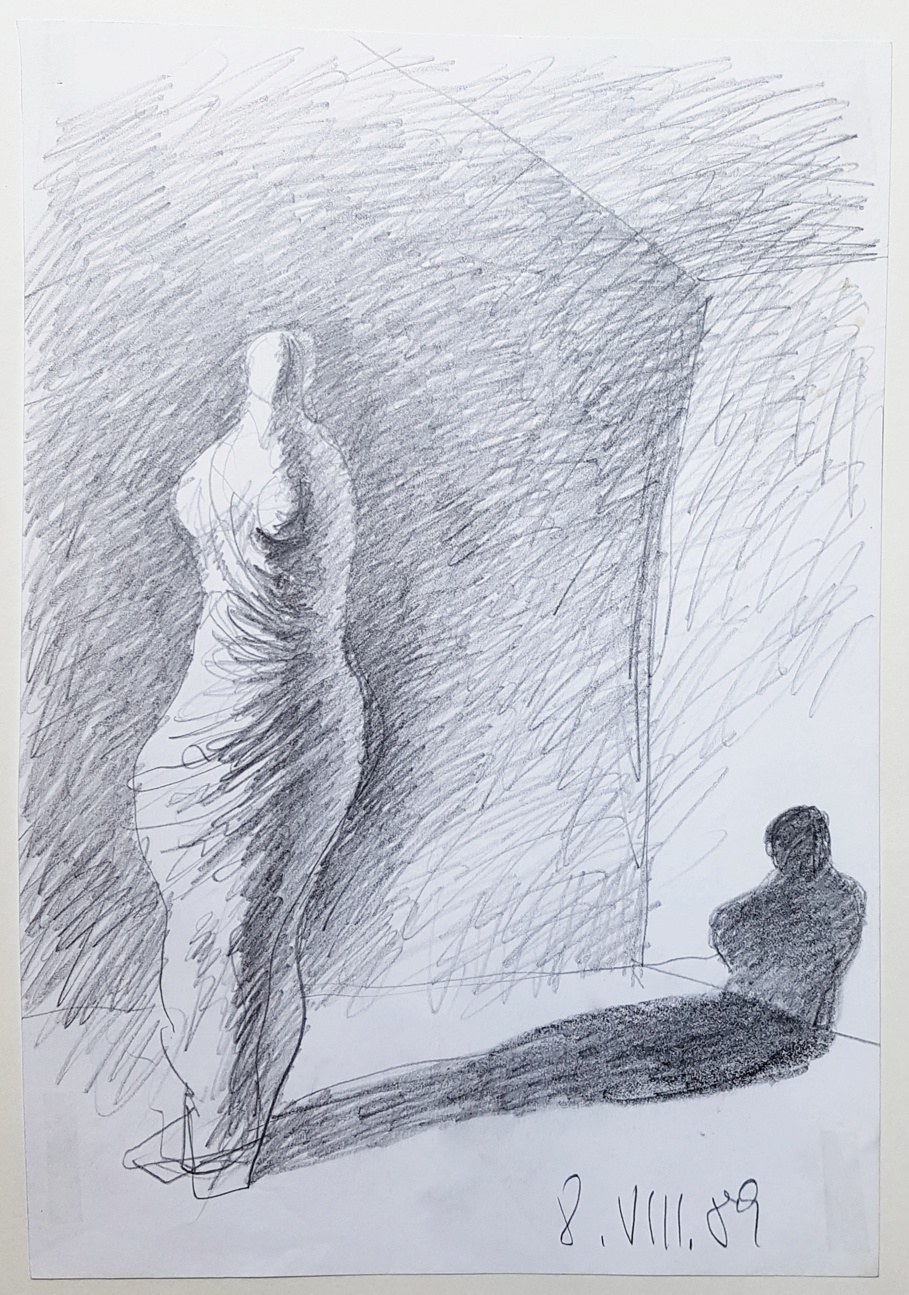Karl Stengel - Senza titolo disegno 1 1989 - matita su carta